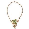 Art nouveau pliqueajour morning glory necklace
