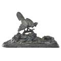 Bronze inkwell in the style of franz bergman
