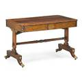 Regency brass inlaid rosewood sofa table