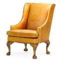 Ralph lauren leather wing chair