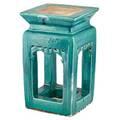 Chinese celadon glazed pottery pedestal