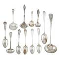 American and european sterling silver group