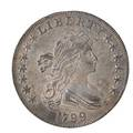 Us 1799 draped bust 100 coin