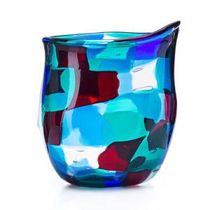 Fulvio bianconi venini pezzato glass vase
