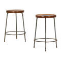 Pierre jeanneret pair of stools chandigarh