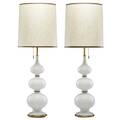 Gerald thurston lightolier pair of table lamps