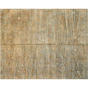 Contemporary handknotted wool rug