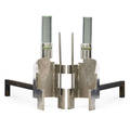 Style of jacques adnet pair of andirons