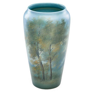 Ed diers rookwood scenic vellum vase