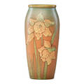 S sax rookwood decorated matdouble vellum vase