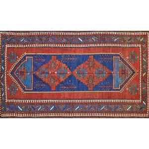 Caucasian kazak handknotted wool rug
