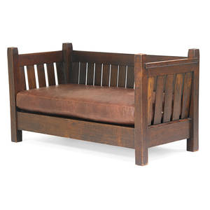 Gustav stickley early crib settle