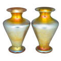 Durand pair of large glass vases
