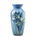 Weller tall hudson vase with irises