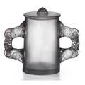 Lalique sylvia lidded vase