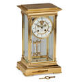 French crystal regulator musical clock