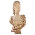 Terra cotta bust of marie antoinette
