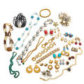 Collection of assorted costume designer jewelry