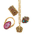 Collection of gold and gemset gold jewelry