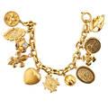 Recent 18k yellow gold charm bracelet