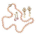Cultured pearl jewelry 18k gold or sterling