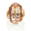Morganite rose gold ring