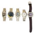 Five recent gentlemens bulova watches