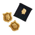 14k yellow gold diamond cufflinks and stud