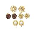 Collection of gold or gemset earrings