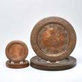 Hammered copper chargers