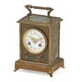 Brass painted carriage clock