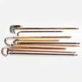 Silver topped cane swaggers  parasol handles
