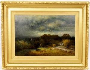 George W King Landscape Oil Painting Signed