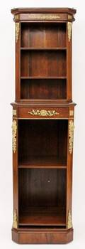 Empire Style Mahogany Ormolu Mounted Bookcase