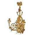 French neoclassical gilt bronze sconce