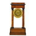 Charles x birch giltbronze portico clock