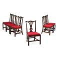 Six george iii mahogany dining chairs