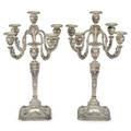 Pair of schwarz  steiner silver candelabrum
