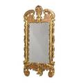 Continental rococo style giltwood mirror