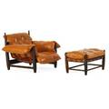 Sergio rodrigues lounge chair and ottoman
