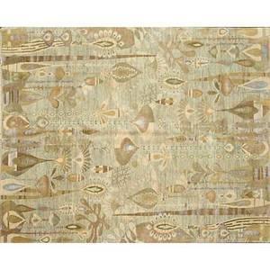 Contemporary modern wool rug