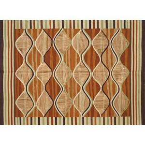 French accents contemporary wool rug