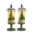Handel pair of mantel lamps