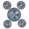 Lalique five coquilles bowls