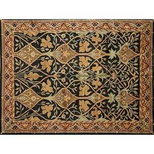 Style of william morris contemporary wool rug