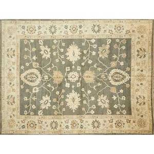 Oushak style contemporary wool rug