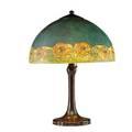 Handel table lamp poppy border shade