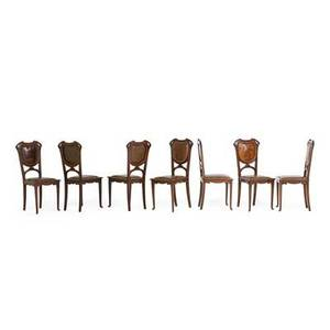 French art nouveau dining chairs
