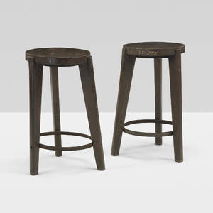 Pierre Jeanneret   pair of stools from Punjab University Chandigarh
