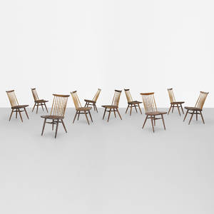 George Nakashima   New chairs set of ten